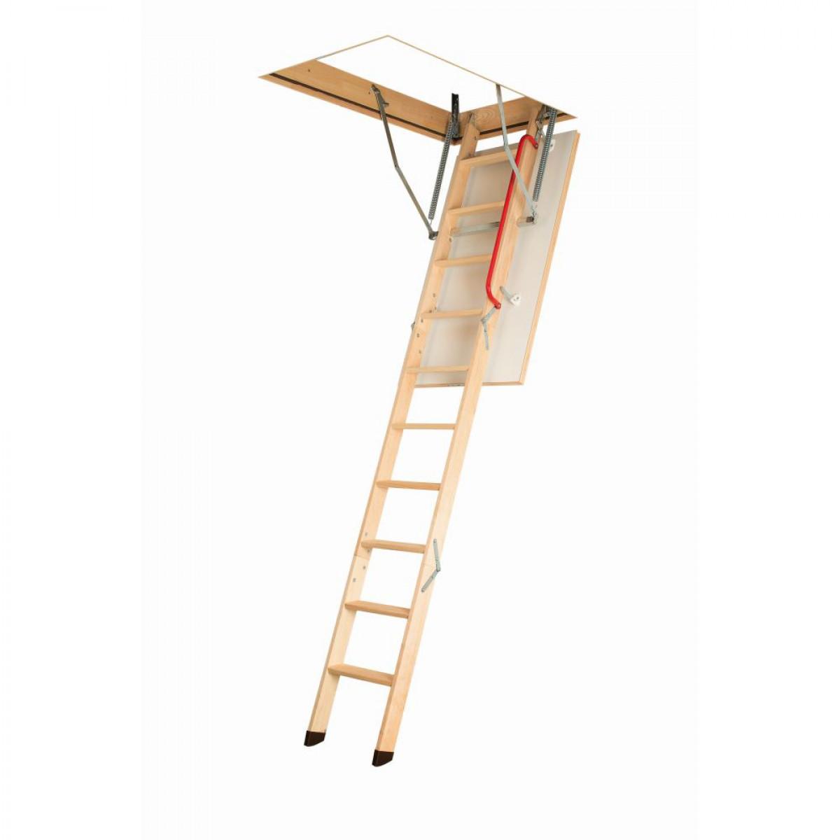 Escalier escamotable avec une échelle en bois LWK Komfort